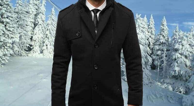 eleganter Winter Herrenmantel